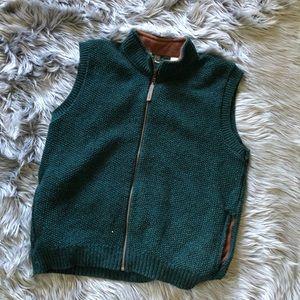 Vintage orvis wool blend full zip vest USA made